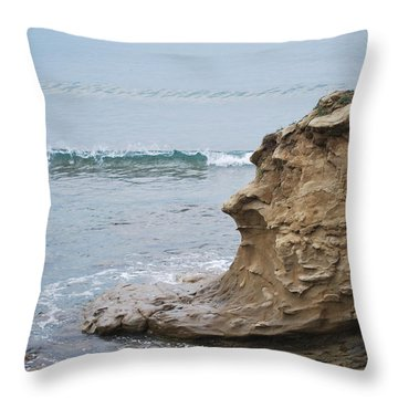 Turquoise Sea Throw Pillow by George Katechis
