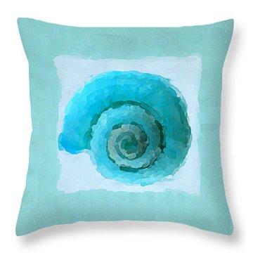 Turquoise Seashells IIi Throw Pillow by Lourry Legarde