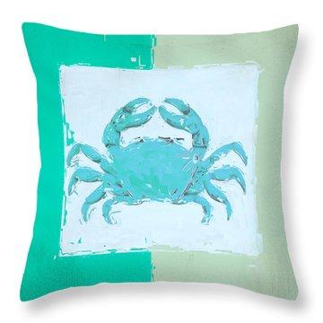 Turquoise Seashells Xv Throw Pillow
