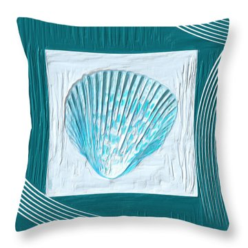Turquoise Seashells Xxiii Throw Pillow