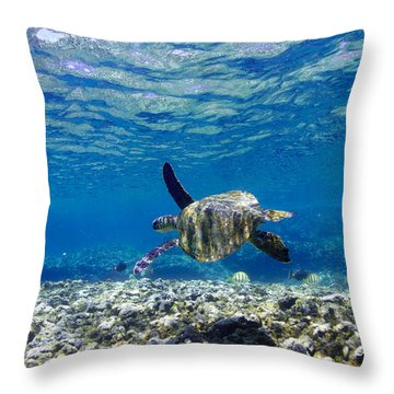 Turtle Cruise Throw Pillow