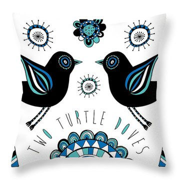 Turtle Dove Throw Pillow by Susan Claire