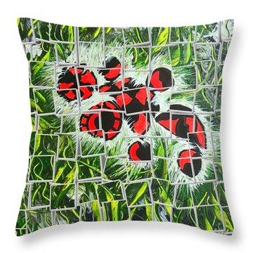 Throw Pillow featuring the pyrography Turtle Green By Nico Bielow by Nico Bielow
