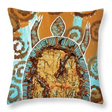Turtle Journey Throw Pillow