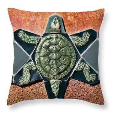 Turtle Mosaic Throw Pillow