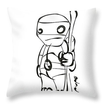 Turtle Ninja Iv  Throw Pillow