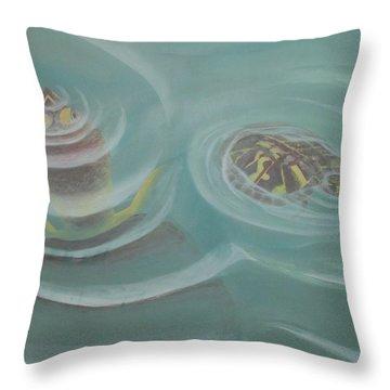 Turtle Pond I Throw Pillow