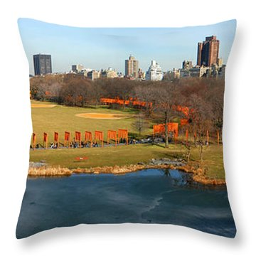 Throw Pillow featuring the photograph Turtle Pond by Yue Wang