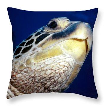 Turtles 1 Throw Pillow by Dawn Eshelman