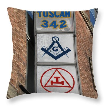 Tuscan 342 Throw Pillow by Michael Krek