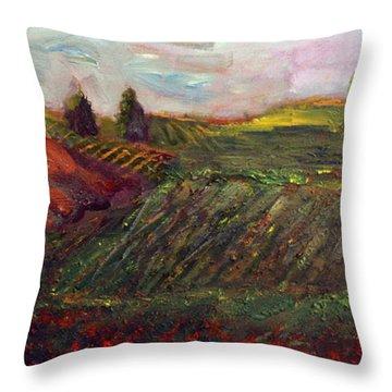 Tuscan Countryside Throw Pillow