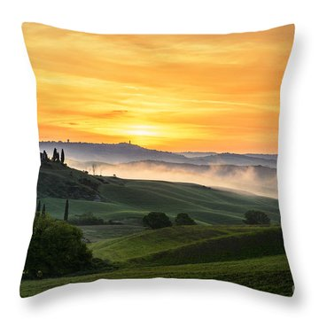 Tuscan Countryside Throw Pillow