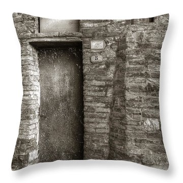 Tuscan Doorway Throw Pillow