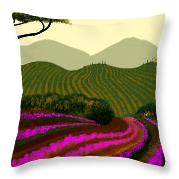 Tuscan Fields Of Color Throw Pillow