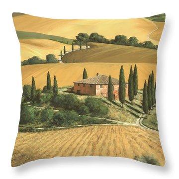 Tuscan Gold  Throw Pillow