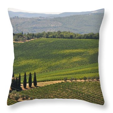 Throw Pillow featuring the photograph Tuscan Hillside by Susie Rieple