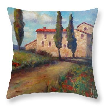 Tuscan Home Throw Pillow