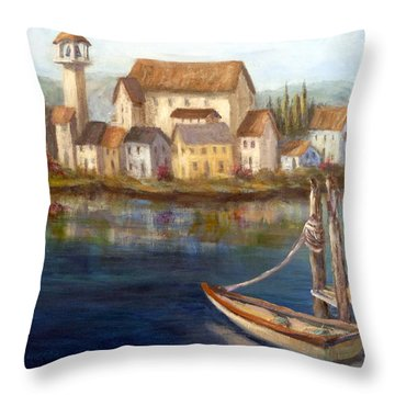 Tuscan Italian Paintings Throw Pillow