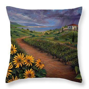 Tuscan Landscape Throw Pillow