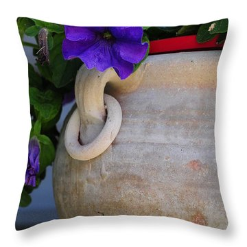 Throw Pillow featuring the photograph Tuscan Pot by Susie Rieple