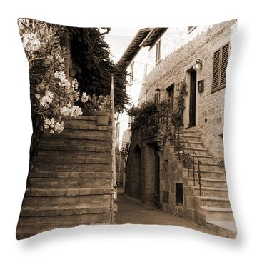 Tuscan Stairways 2 Throw Pillow
