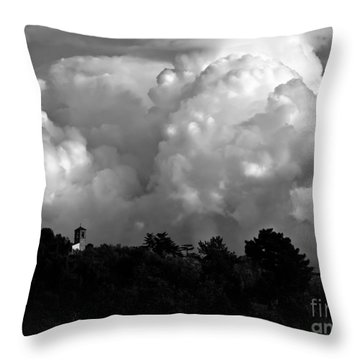 Tuscan Storm Rising From The Valley Throw Pillow