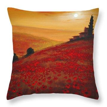 Tuscan Sunset Throw Pillow