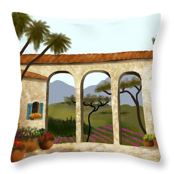 Tuscan Villa Of Beauty  Throw Pillow