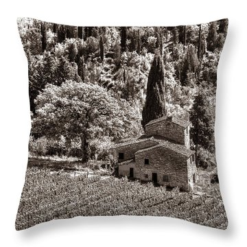 Tuscan Vinyard Throw Pillow