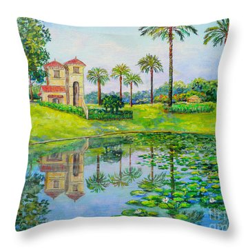 Tuscana Reflection Throw Pillow by Lou Ann Bagnall