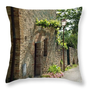 Tuscany Alley Italy Throw Pillow by Haleh Mahbod