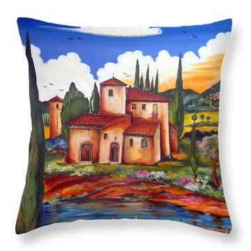 Tuscany Farmhouse Throw Pillow