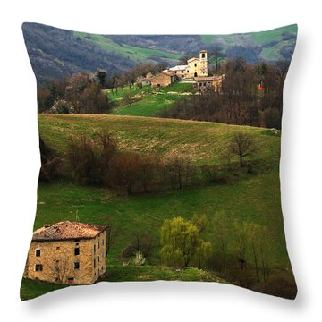Tuscany Landscape 3 Throw Pillow by Bob Christopher