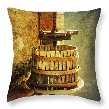 Tuscany Wine Barrel Throw Pillow