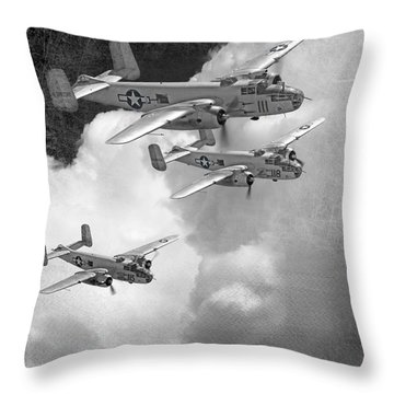 Tuskegee Airman...616th Bombardment Group Throw Pillow by Larry McManus