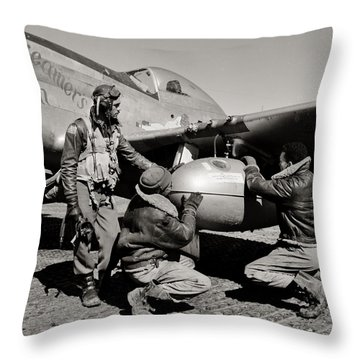 Tuskegee Preflight Throw Pillow by Benjamin Yeager