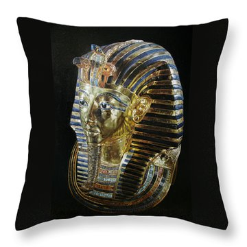 Tutankamon's Golden Mask Throw Pillow