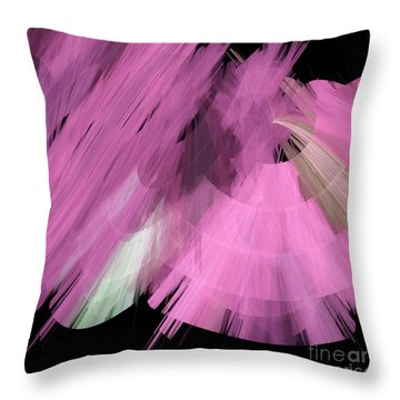 Tutu Stage Left Abstract Pink Throw Pillow by Andee Design