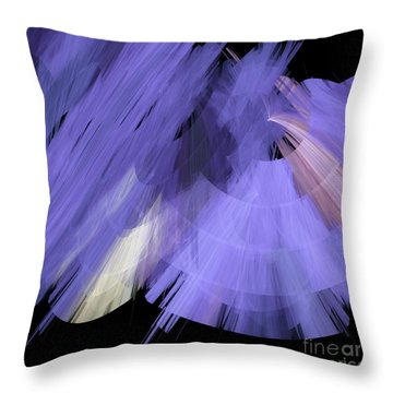 Tutu Stage Left Periwinkle Abstract Throw Pillow by Andee Design