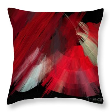 Tutu Stage Left Red Abstract Throw Pillow by Andee Design