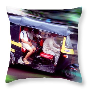 Throw Pillow featuring the photograph Tuxi by Richard Piper