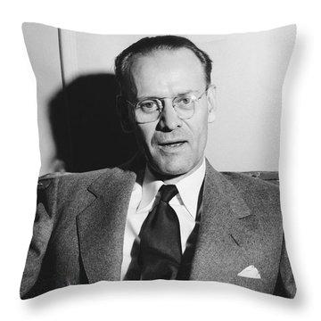 Tv Pioneer Philo Farnsworth Throw Pillow