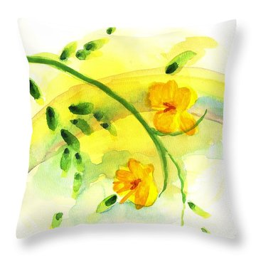 Throw Pillow featuring the painting 'twas By Grace by Holly Carmichael