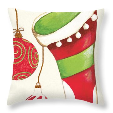 Twas The Night...2 Throw Pillow by Debbie DeWitt