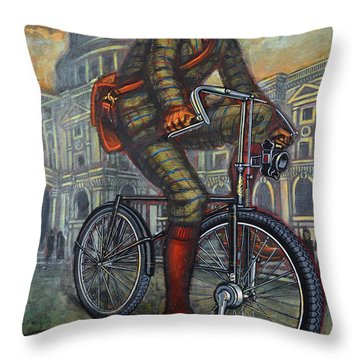 Bob On His Bantam St Pauls London Throw Pillow