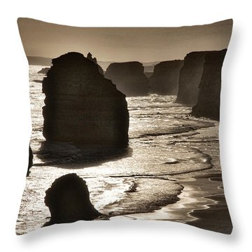 Twelve Apostles #3 - Black And White Throw Pillow