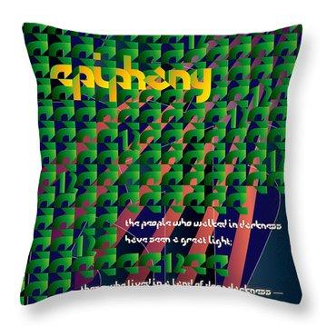 Twelve Days Throw Pillow by Chuck Mountain