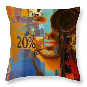 Twenty Percent Of Creativity  Throw Pillow by Empty Wall