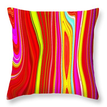 Throw Pillow featuring the painting Twiggy Stripes C2014 by Paul Ashby