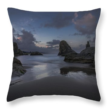 Twilight At Bandon Throw Pillow